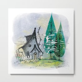 Wind in the poplars Metal Print