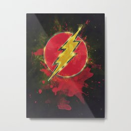 Flash Splat Test Metal Print