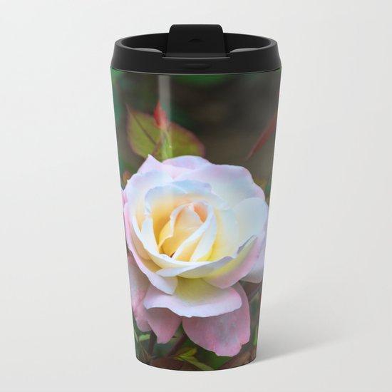A rose Metal Travel Mug