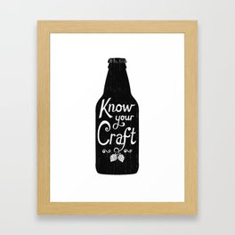 Know Your Craft Framed Art Print