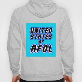 UNITED STATES OF AFOL in Brick Font Logo Design [Alternate Colors] by Chillee Wilson Hoody