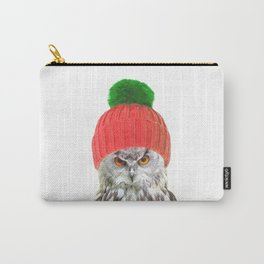 Owl with cap winter holidays Carry-All Pouch