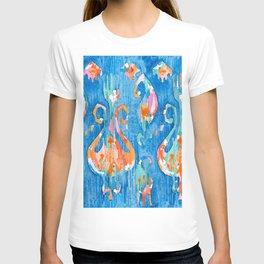 electric blue balinese ikat T-shirt