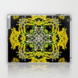Crowning Goldenrod and Silver king Kaleidoscope Scanography Laptop & iPad Skin