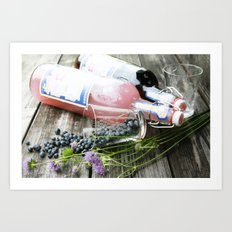 Blueberries and lemonade Art Print