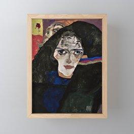 Egon Schiele - Mourning Woman - Digital Remastered Edition Framed Mini Art Print