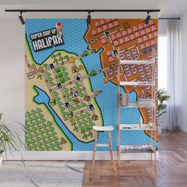 Super Map of Halifax Wall Mural