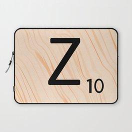 Scrabble Letter Z - Scrabble Art and Apparel Laptop Sleeve
