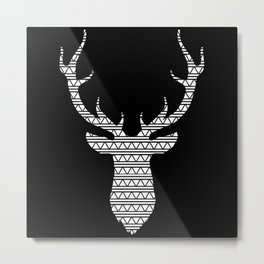 Patterned Stag's Head - Inverted Metal Print