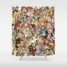 Cartoon Collage Shower Curtain