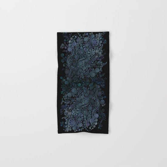 3D ornaments, blue Hand & Bath Towel