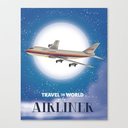 Travel the world by Airliner Canvas Print
