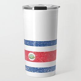 Costa Rica Country Vintage Costa Rican National Flag Gift Travel Mug