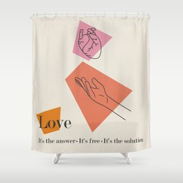 Love: Sixties Shower Curtain