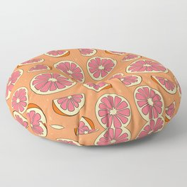 Grapefruit Print Floor Pillow