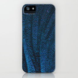 Dragonfly shiny vibrant blue wings iPhone Case