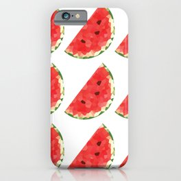 watermelon 3x3 pattern, fill, repeating, tiled | elegant iPhone Case
