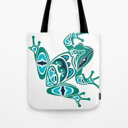 Frog Pacific Northwest Native American Indian Style Art Tote Bag
