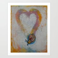 snail Art Prints featuring Snail by Michael Creese
