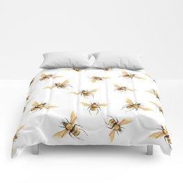 Bees in Golden Yellow Comforters