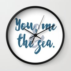 You, Me & the Sea Wall Clock