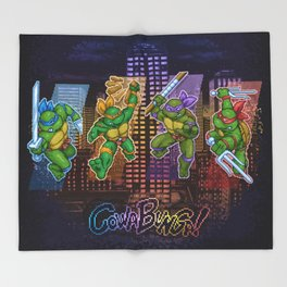 Ninja Teen Turtle Mutants xstat Throw Blanket