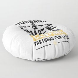 Husband And Wife Camping Partners For Life Floor Pillow