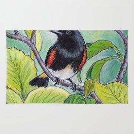 American Redstart Rug