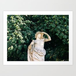 paris statue Art Print