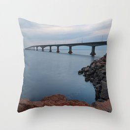 Confederation Twilight Bridge Throw Pillow