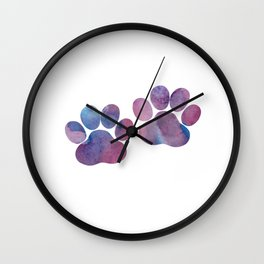 Dog Paw Prints Wall Clock