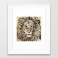leo Framed Art Prints featuring Leo by Eric Fan