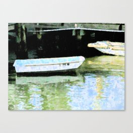 2 Boats At Rest Canvas Print