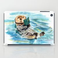 otter iPad Cases featuring Otter by Anna Shell
