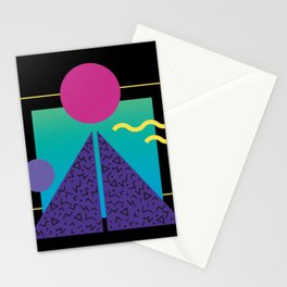 Memphis Pattern 37 / 80s - 90s Retro Stationery Cards