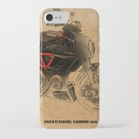 ducati iPhone & iPod Cases featuring Ducati Diavel Carbon 2015 by Larsson Stevensem