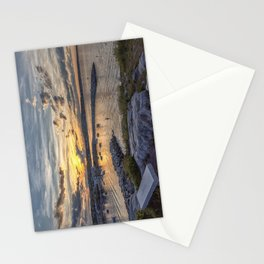 Sunset over Rockport Harbor 6-9-18 Stationery Cards