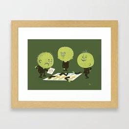 Zombie Twister Framed Art Print