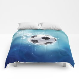 Soccer Water Splash Comforters