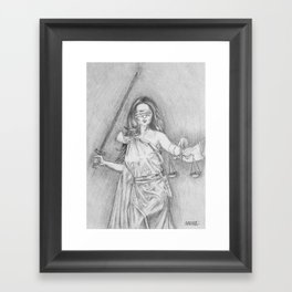 The Goddess of Justice - Themis Framed Art Print