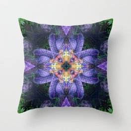 Flowers for Ange Throw Pillow