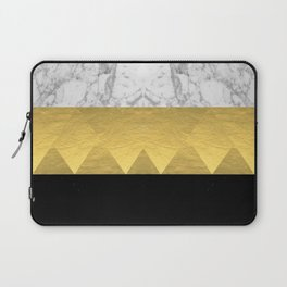 Stacked - gold foil black and marble cell phone case golden urban minimal retro modern city hipster  Laptop Sleeve