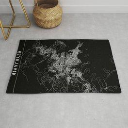 Reykjavik Black Map Rug