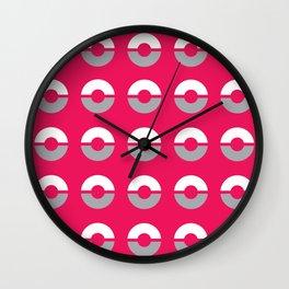 Pokéball Pattern 2 Wall Clock