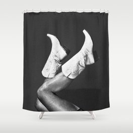 These Boots - Noir Shower Curtain