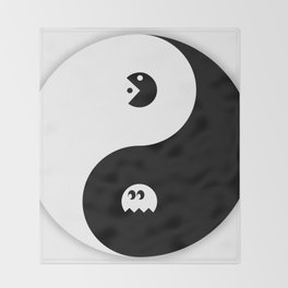 Yin and Pacman Throw Blanket