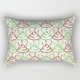 Poop Pattern Rectangular Pillow