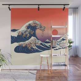 The Great Wave of Dachshunds Wall Mural