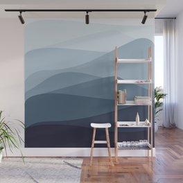 Indigo mountain hills Wall Mural