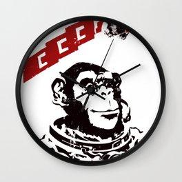 Soviet Space Monkey Wall Clock